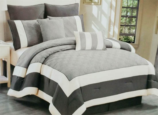navy bedding set (king)
