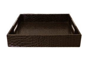 brown leather tray small (tr 15)