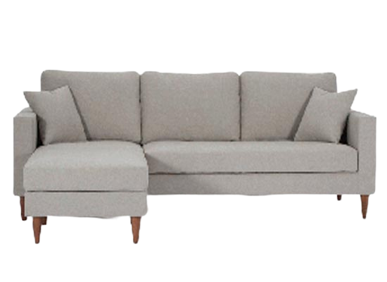 Flip Sectional (Velvet Pearl Grey)