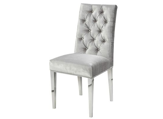 Empire dining chair (velvet grey)