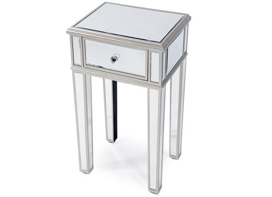 lux end table mirror