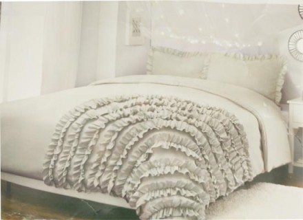 Ruffles Bedding set (twin grey)