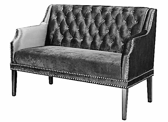 sofia loveseat (black)
