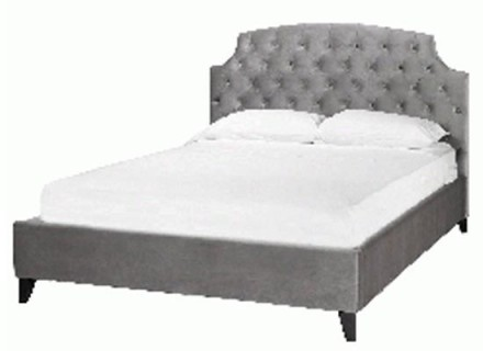 crystal headboard (Queen grey)
