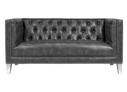 Austin loveseat (leather smoky grey)