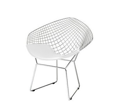 Mesh accent chair (white)