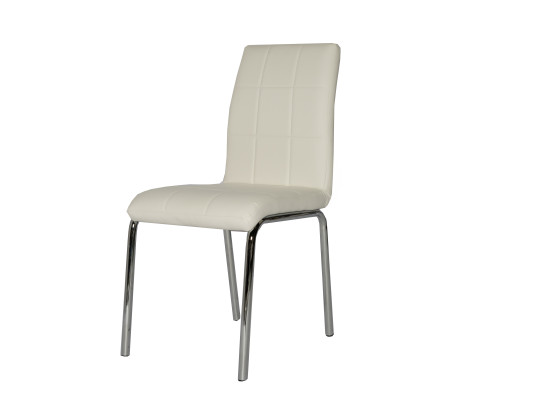 dana dining chair (white leather)