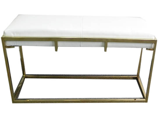 Bruno bench (white leather)