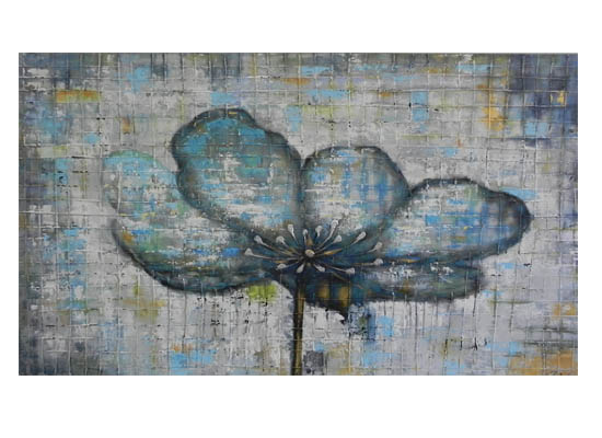 Turquoise Flower (Print 211)