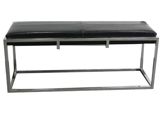Bruno bench (black leather)