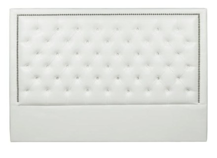 Diamond Headboard (Queen white leather)