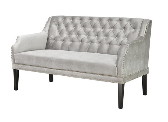 sofia loveseat (velvet grey)