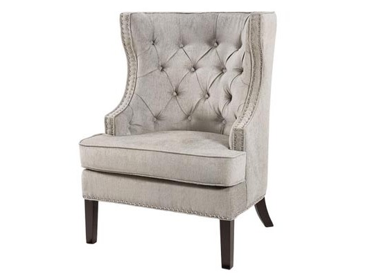 nico accent chair (light grey)
