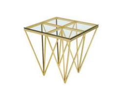 Florence end table (gold)