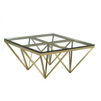 florence coffee table (gold)