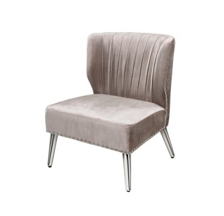 Luxor accent chair (velvet grey)