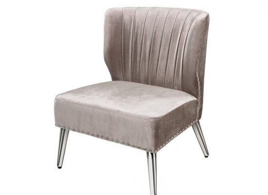 Luxor accent chair (velvet grey)
