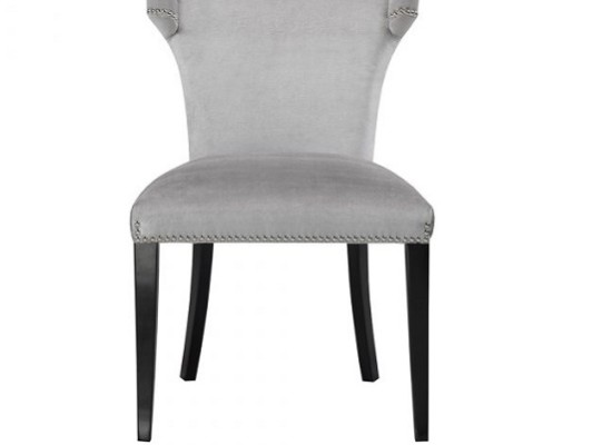 wellington dining chair (velvet grey)