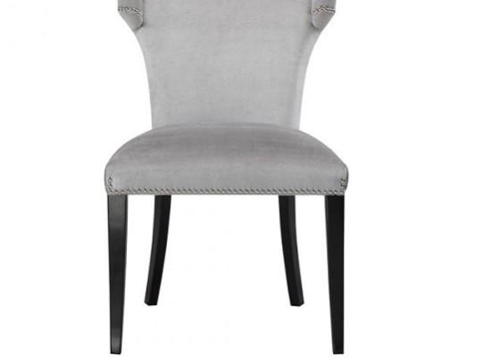 wellington dining chair (velvet grey)