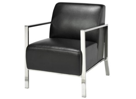 jackson accent chair (black leather)