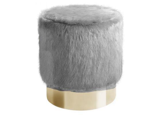 monica ottoman (grey)