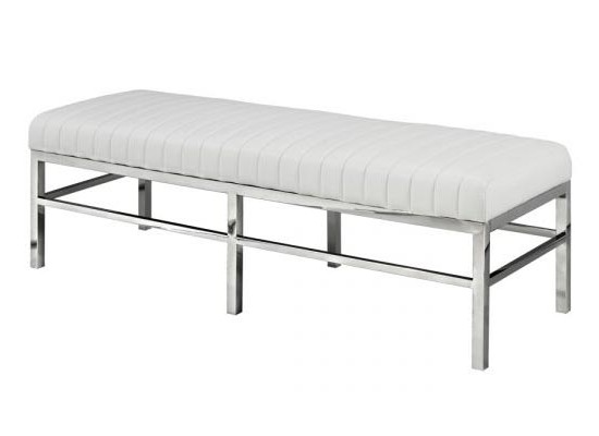 Bentley Bench (white leather)