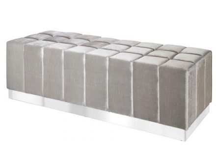 odeen bench (Velvet grey)