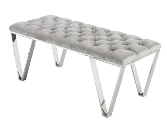 sky bench (velvet grey)