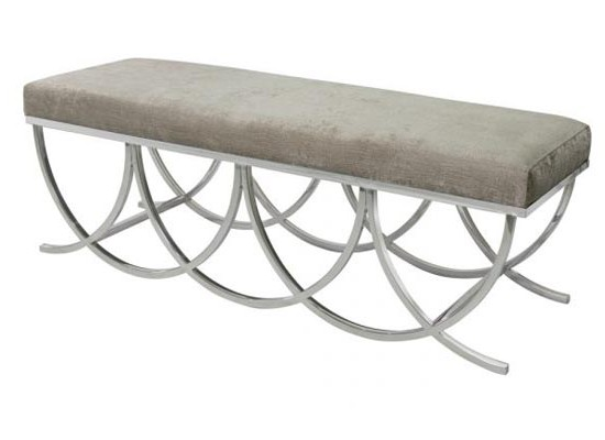 medallion bench (grey)