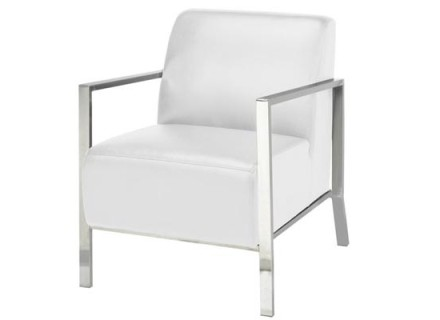 jackson accent chair (white leather)
