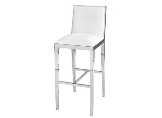 serena bar stool (White Leather)