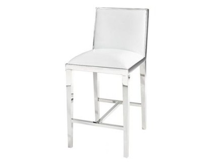 serena counter stool (White leather)