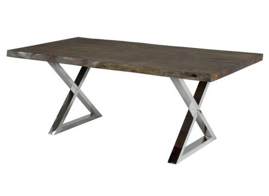LIVE EDGE DINING TABLE x leg (72 INCHES)
