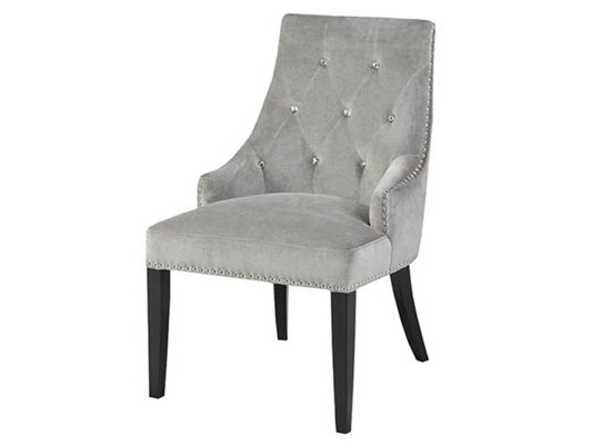 Patricia chair (velvet grey)