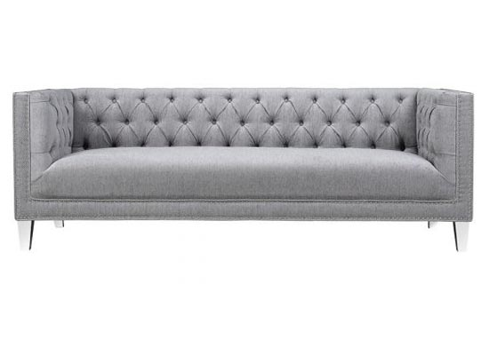 Chloe Sofa (Velvet Grey)
