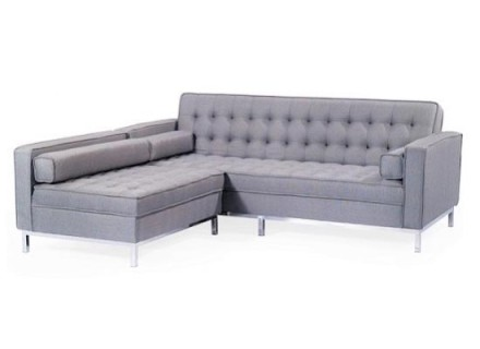 amira sectional (tiffany grey)