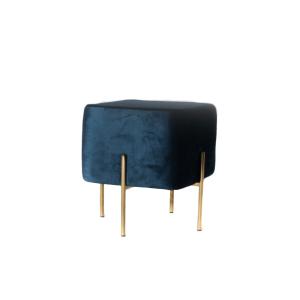 carson ottoman (velvet blue)