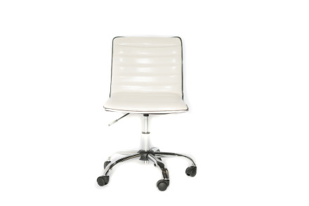 karen office chair (white leather)