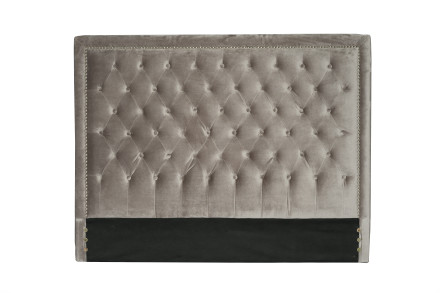 diamond headboard (Queen velvet grey)