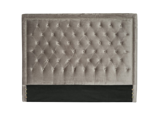 diamond headboard (Queen velvet grey)
