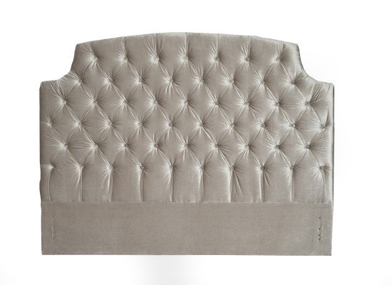 crystal headboard (queen velvet grey)
