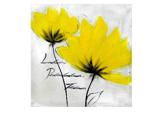 yellow daisy 2 print (print 225)