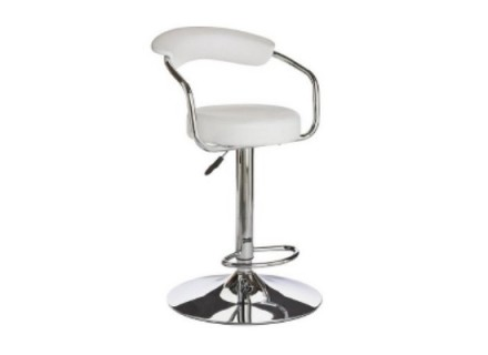 don bar stool (white leather)