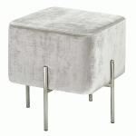 carson ottoman (Grey: Silver Legs)