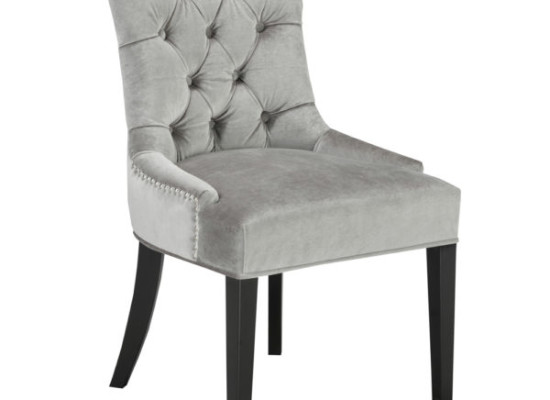 Shaw Dining Chair Grey Velvet