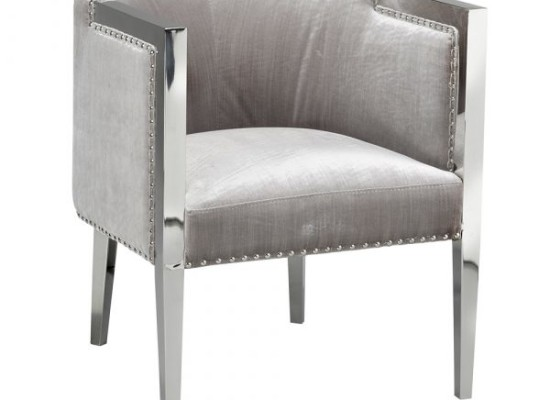 Obi Accent Chair (velvet grey)