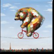 Bear on a line