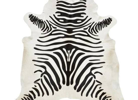 Black & White Zebra Cowhide (R9)
