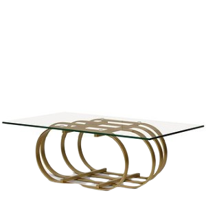 Brie Coffee Table (Color: Gold Base)