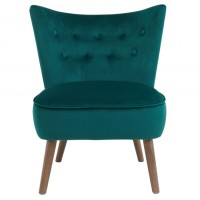 Liam Accent Chair (Fabric: Velvet/ Color: Emerald)